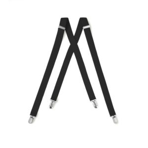 Black Clip Suspenders