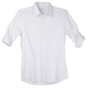 White Linen Long Sleeve Shirt